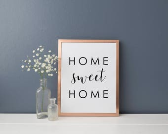 Home Sweet Home, Digital Print, Instant Download