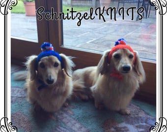 Dog bobble hat ,dog bonnet