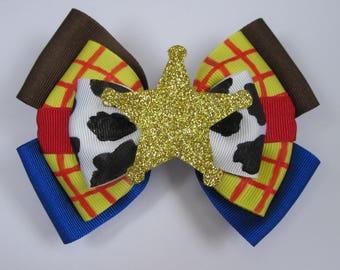 Sheriff Woody Toy Story Inspired Disney Hair Bow