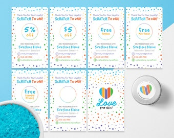 Rodan and Fields Scratch Off Cards, Free Personalized, Rodan + Fields Scratch to Win, R + F Scratch Off, For Independent Consultants