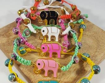Macrame good luck elephant bracelets