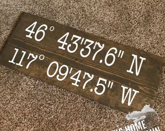 Lovers Coordinates Decor sign