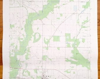 Antique Mccrory Arkansas 1980 Us Geological Survey Topographic Map Riverside Overcup Patterson