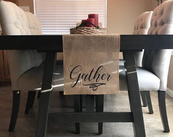 Gather Burlap Table Runner
