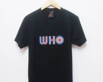 Hot Sale!!! Rare THE WHO Big Logo Spell Out Band T-Shirt Hard Rock Punk Metal Hip Hop Skate Swag Medium Size