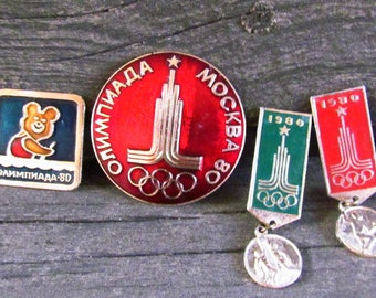 Metal Pin Vintage badges Olympic Pin Olympic Games 80 Moscow Games Symbol Sport pins Olympic Symbol Olympic badges USSR Pin Moscow 1980