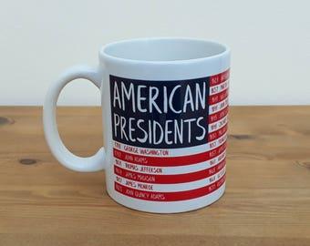 American Presidents Washington to Trump Flag Mug