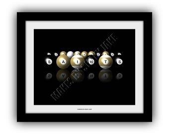 New Orleans Saints Billiards Print