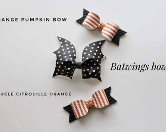 Halloween bow || Bow headband || Bow hair clips || hair accessories || baby gift || gift for a kids || cheer bow,
