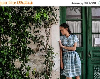 Ciel Summer Dress / Shirt Dress / Vintage Dress / Retro Dress