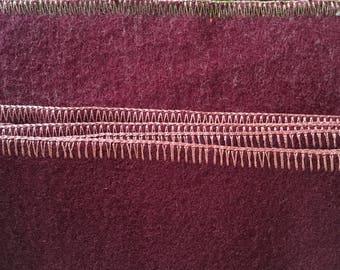 Vintage Wool Blanket From Camden Mills In Camden, Maine USA, New/Unused Stock, Wool Rug