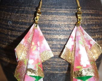 "Glitter gold ""Drapé"" Stud Earrings"