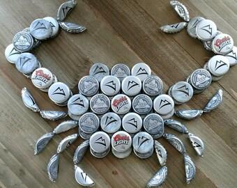 Coors Light Beer Bottle Cap Crab Wall Art