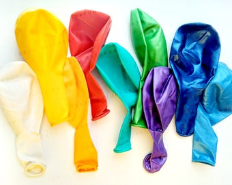 Rainbow Balloon Pack, Option of Confetti balloons, Kids Birthday Party, Event - AU Free Shipping
