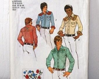 Simplicity Pattern 6693 Western Shirt Pattern