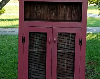 rustic country cabinet pie safe