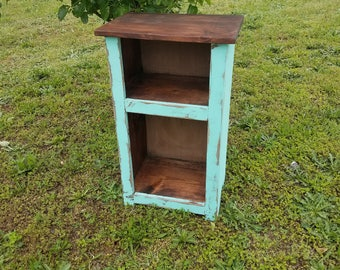 rustic country end table