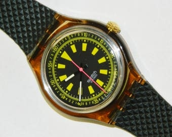 Swatch BMX vintage plastic automatic conversion self winding watch with no battery