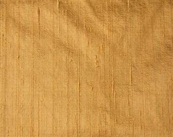 Free Shipping Gold Dupion Raw Silk Fabric