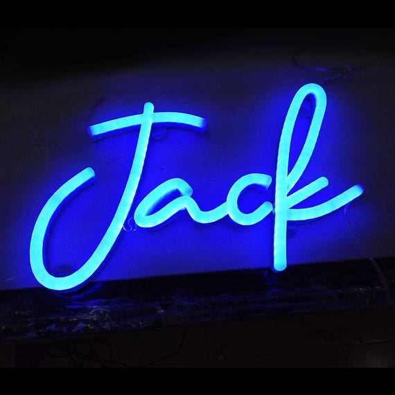 your name in led neon letters. Black Bedroom Furniture Sets. Home Design Ideas