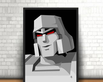 Megatron, The Transformers - Original Art - Poster Print