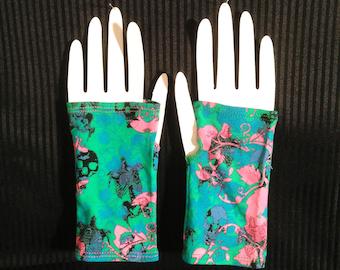 Skull Floral Wristwarmer - Pair