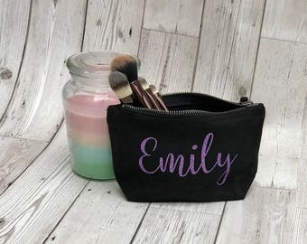Personalised Make Up Bag, Cosmetics Bag, Bridesmaid Gift, Custom Make Up Bag, Wedding Make Up Bag, Wash Bag, Gift For Her, Customised Bag