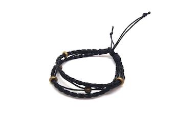 Black unisex bracelet