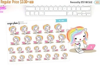 SALE Rae Works | Rae Studies | Rae the Unicorn | 24 Planner Stickers