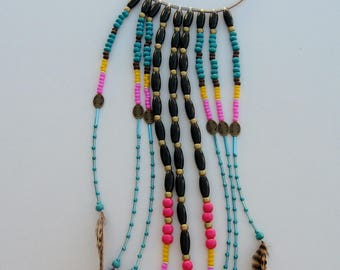 Native American hippie boho style ethnic long necklace