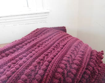 Cable Blanket: Red