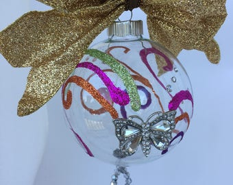 Crystal Decor - Christmas Decoration - First Christmas Ornament Married - Opulent Christmas Ornament - Wedding Gift