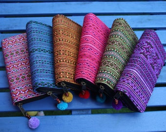 Handmade Hmong purse / Cotton Purse/ Hill tribe Bag / Handmade Wallet /Hill Tribe Purse / Hmong Wallet / Thai Purse /Colorful Purse