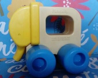 Vintage 1988 playschool toy / Elephant/Plastic/wee animals