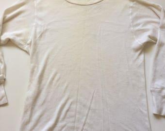 1960's thermal undershirt long sleeve vintage thermal shirt distressed J E Morgan X-Large XL
