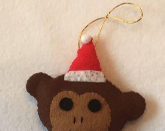 MONKEY - Hanging Christmas TREE Decoration -Felt