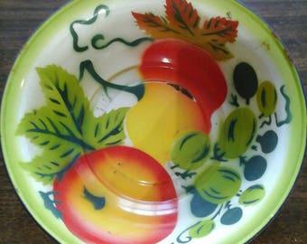 Vintage Metal Fruit Bowl