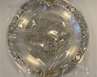 1994 Harley Davidson Roaring Into The Twenties Collectible Pewter Plate LTD Series 20 #1155/3000