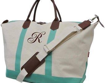 Weekend tote bag personalized weekend overnight bag custom
