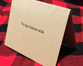 To my future wife card