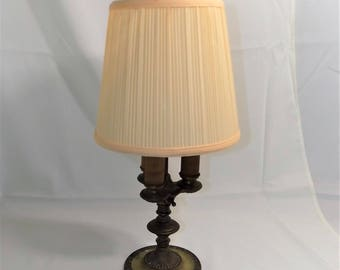 Beautiful Antique Solid Brass 3 Light Table Lamp, Perfect Size