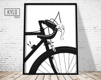 Bicycle Print, Home Decor, Bicycle Poster, Printable Art, Wall Art, Digital Print, Cycling Poster, Bicycle Art, Cycling Print, Bike Print