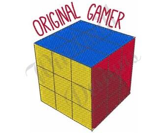 Original Gamer Rubix Cube - Machine Embroidery Design