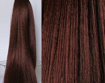 30% Off RICH CHESTNUT Saran Doll Hair for Custom OOAK/Rerooting