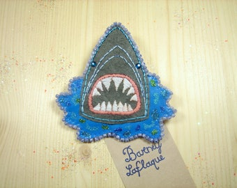 The great white shark brooch