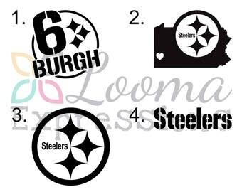 Steelers Decal Etsy - Custom vinyl decals pittsburgh