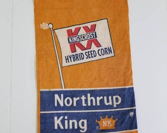 Rare Vintage 1950s Seed Bags Northup, Farmhouse, Country