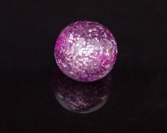 [Premium] 5 Polaris fili 14mm transparent purple beads
