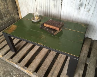 Colored industrial style coffee table
