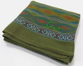 Kenzo Handkerchief VINTAGE Kenzo Paris Argyle Design Handkerchief